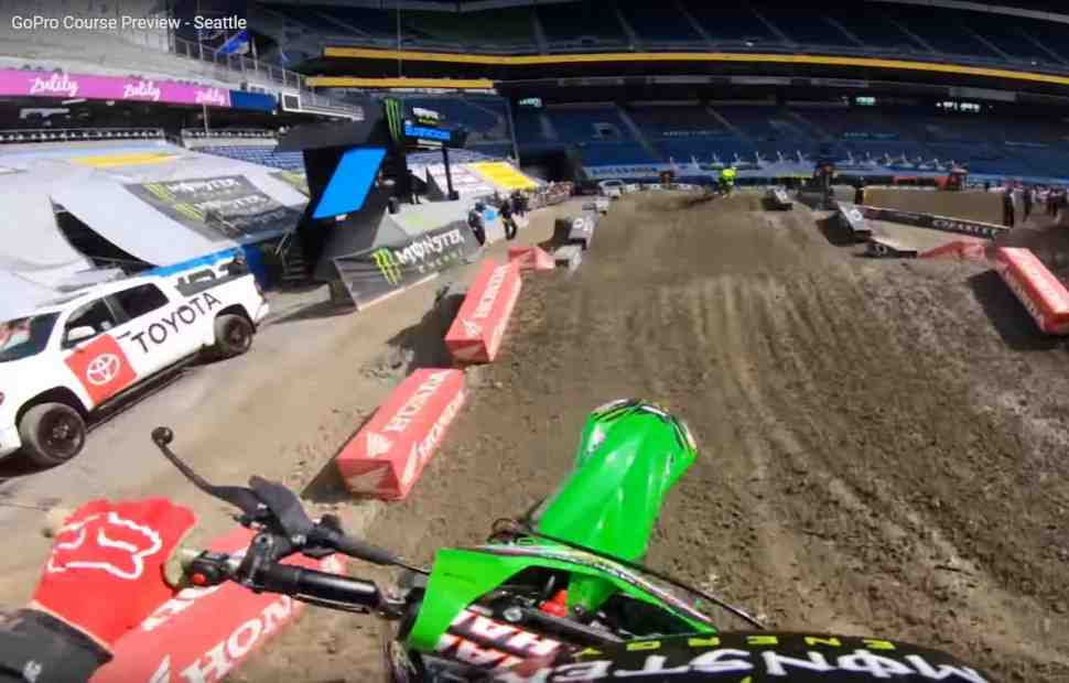 AMA Supercross: трасса в Сиэтле с камеры Элая Томака - видео