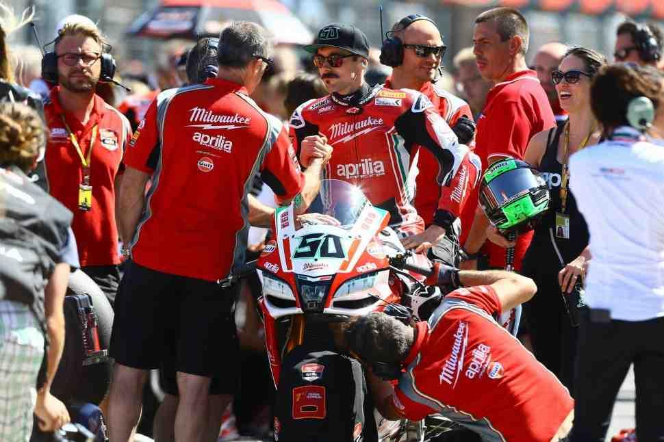 Aprilia снова может лишиться заводской команды в World Superbike