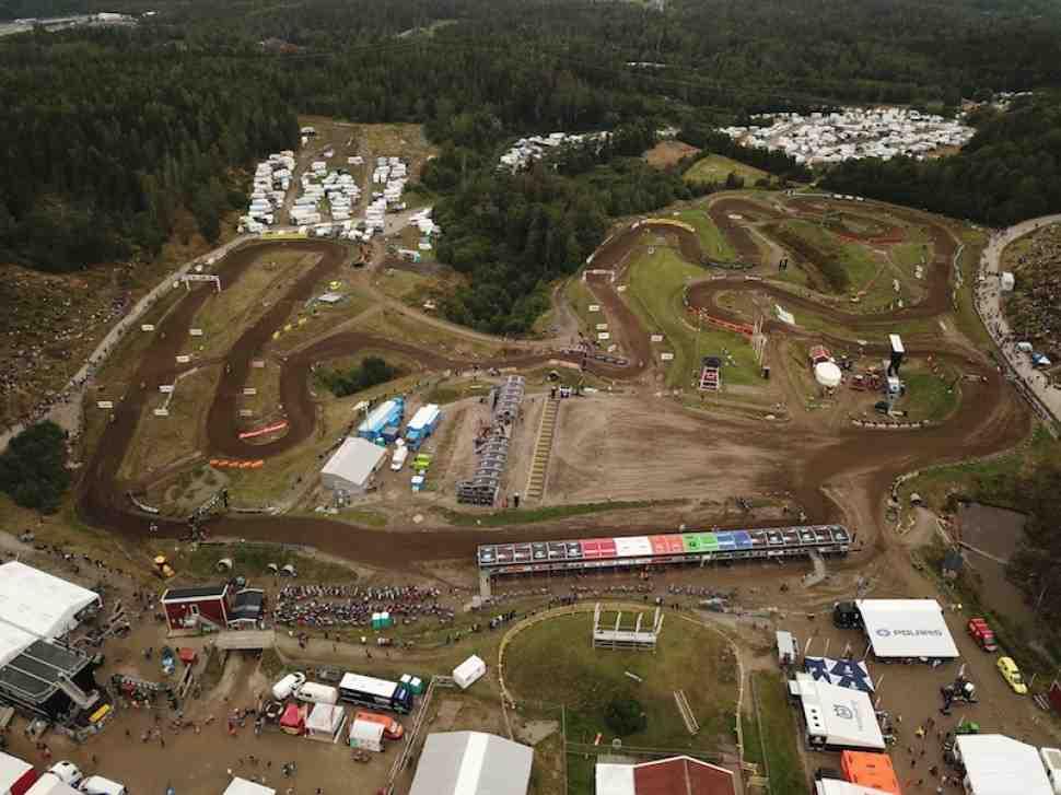 Мотокросс: круг по трассе Гран-При Швеции MXGP - видео