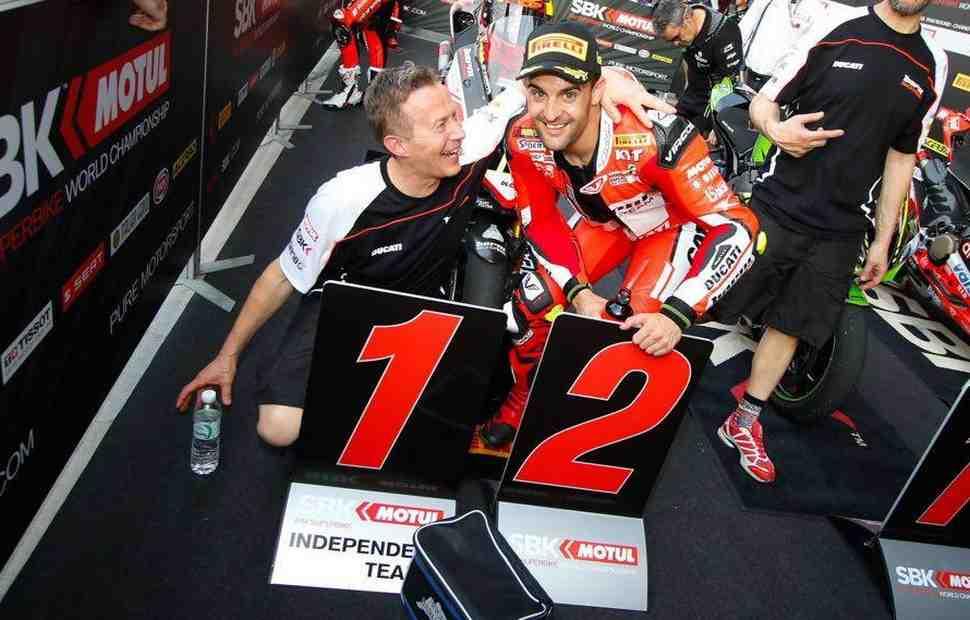 Быстрейший пилот Ducati на подиуме ThaiWorldSBK - Чави Форес: неожиданный результат!