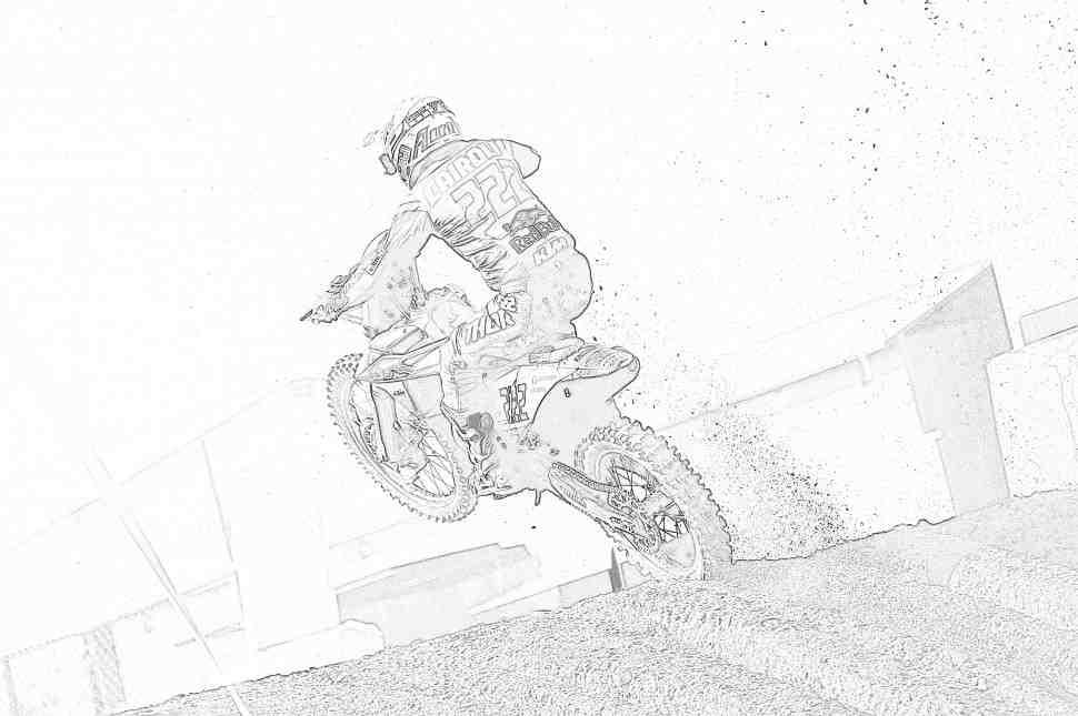 Мотокросс MXGP: раскраски с гонщиками чемпионата мира