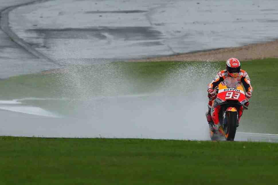 MotoGP: Маркес объяснил проблему с дождем на Silverstone - Никто не доедет до финиша...