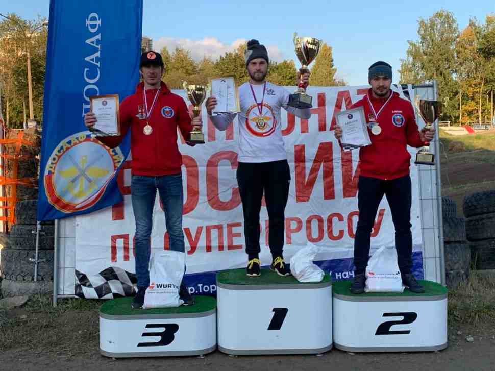 Суперкросс: подиум класса 250 Чемпионата России - 5-й этап