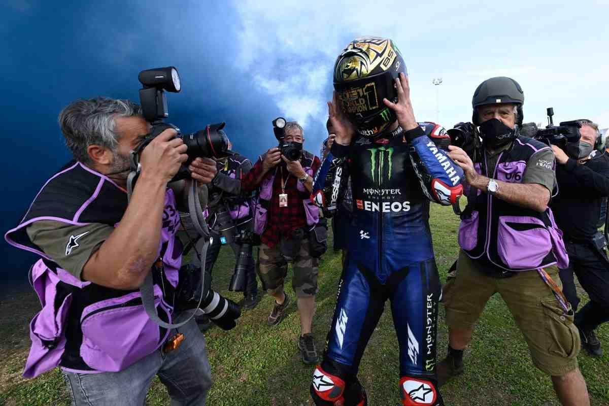 EmiliaRomagnaGP - видео: Перформанс в честь победы Фабио Куартараро в чемпионате MotoGP