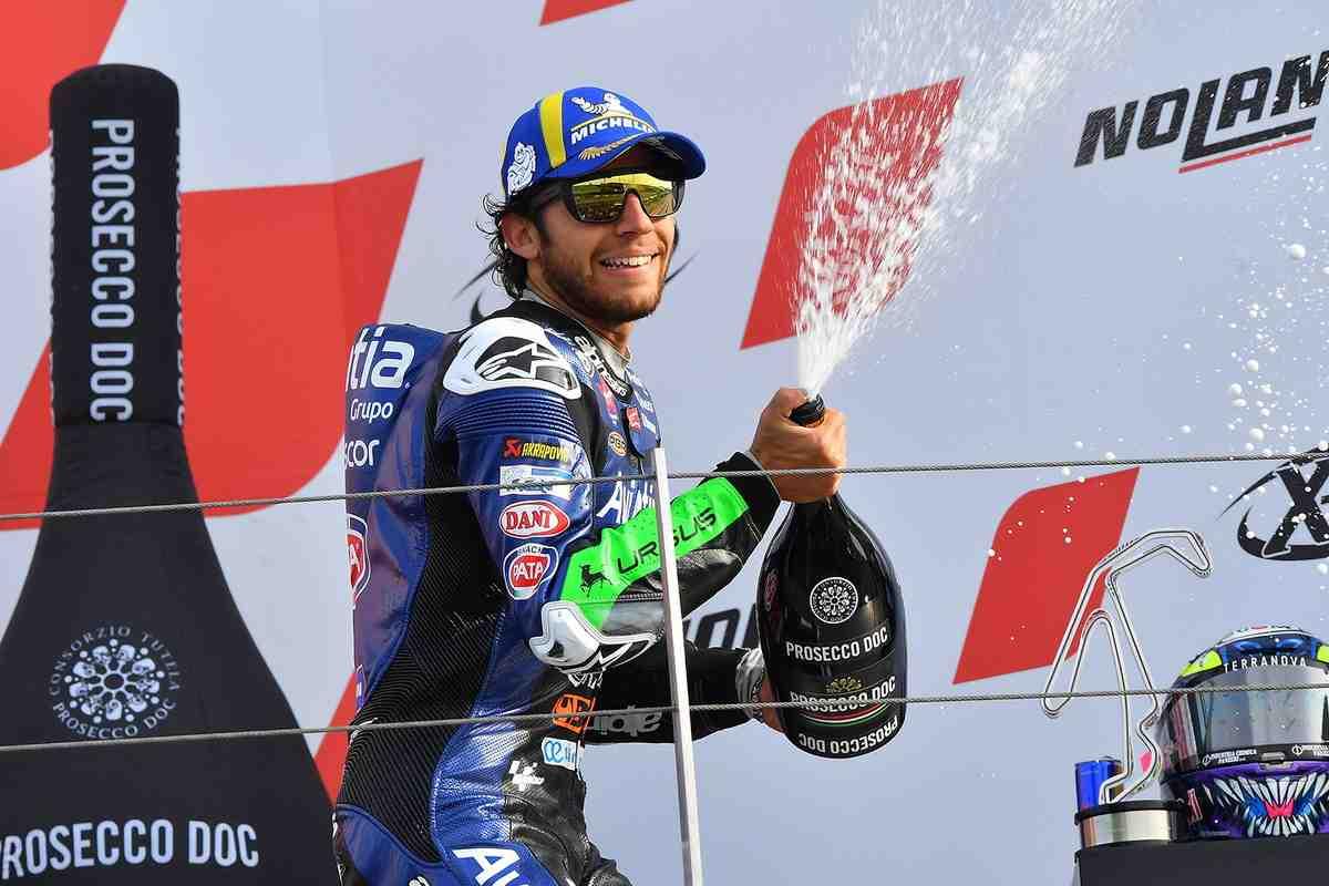 MotoGP: Герой дня в тени - как Бастианини на подиуме Гран-При Эмильи-Романьи оказался