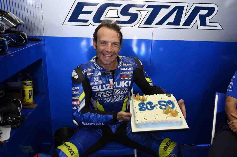 Чемпион WSBK и звезда паддока MotoGP - Сильвейн Гуинтоли справил день рождения на тестах в Мизано