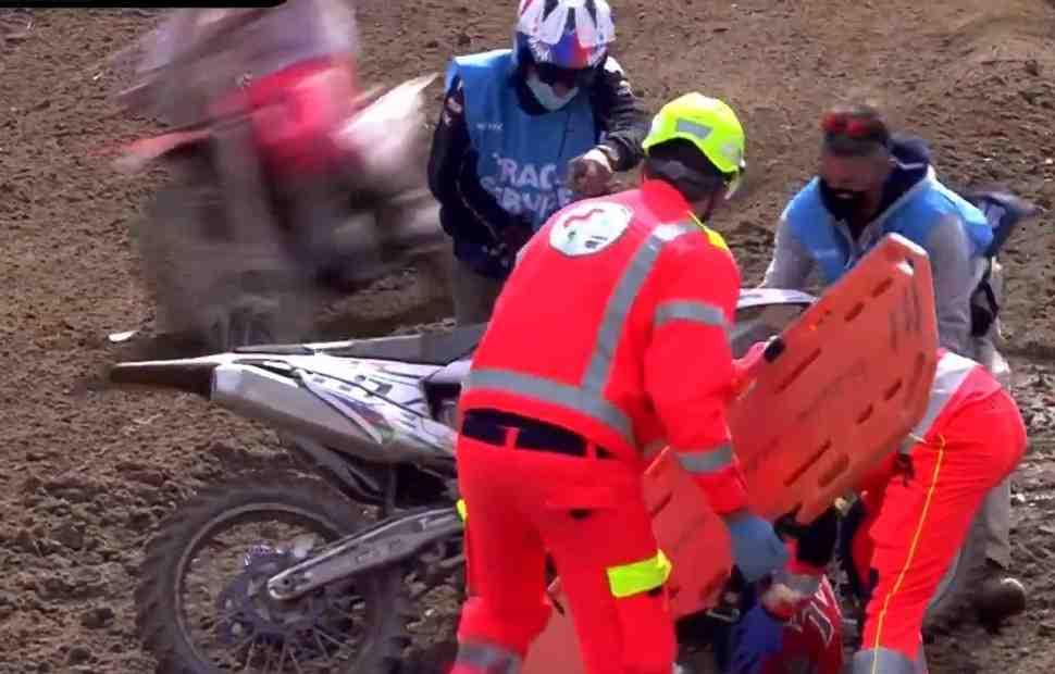 Мотокросс MXGP: сильное падение Евгения Бобрышева в Гран-При Ломбардии