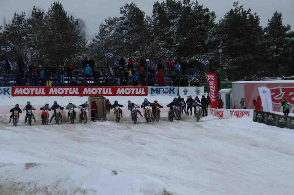 Чемпионат Москвы по суперкроссу 2019 - снегопад не страшен