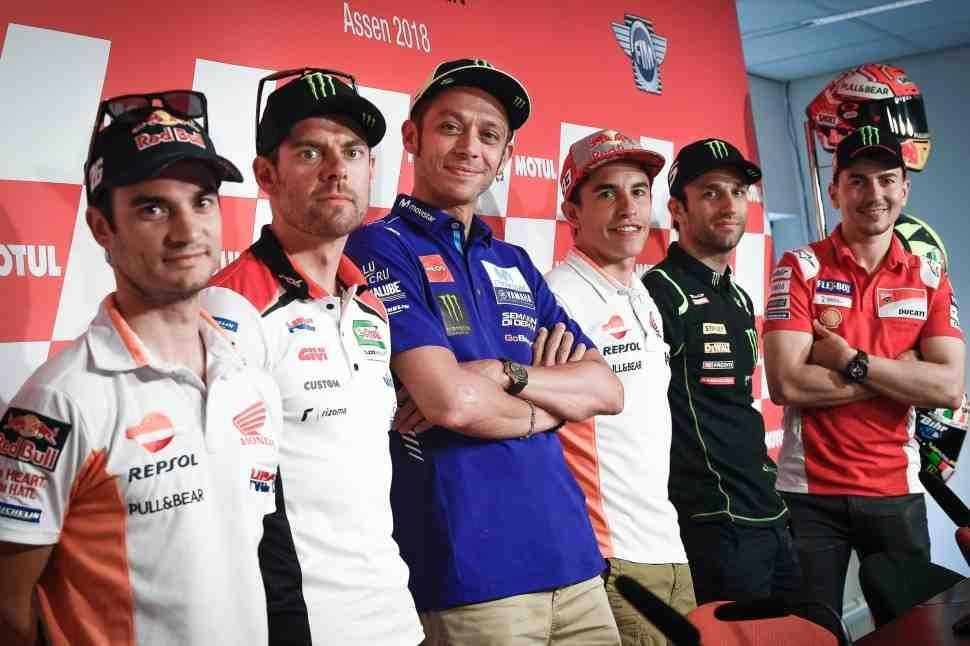MotoGP: Росси против Формулы-1 в Ассене, Педросе нечего сказать, а Маркесу нужна победа в DutchTT