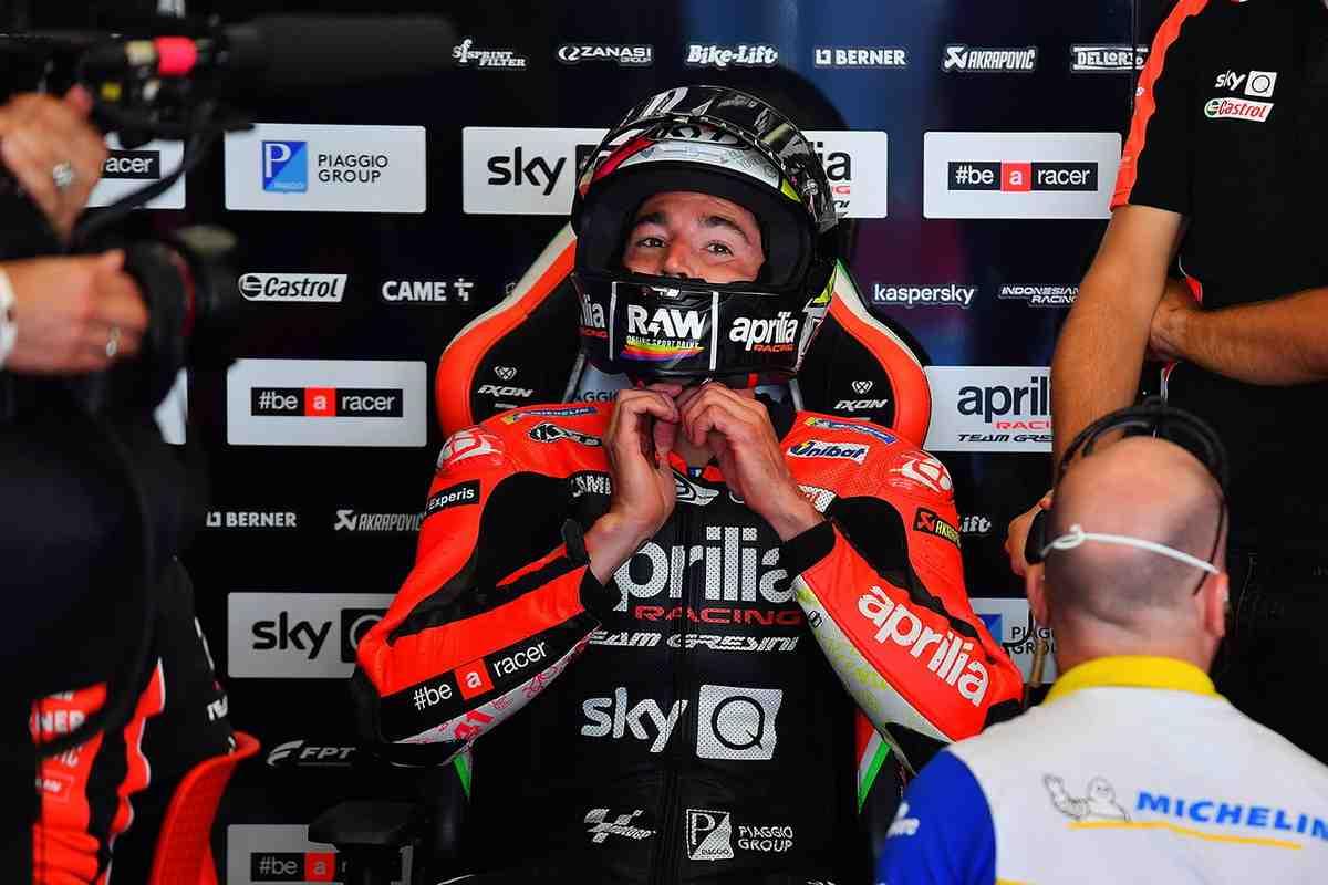MotoGP: Алеш Эспаргаро - 4-й на старте в Муджелло, но все с самого начала идет не по плану