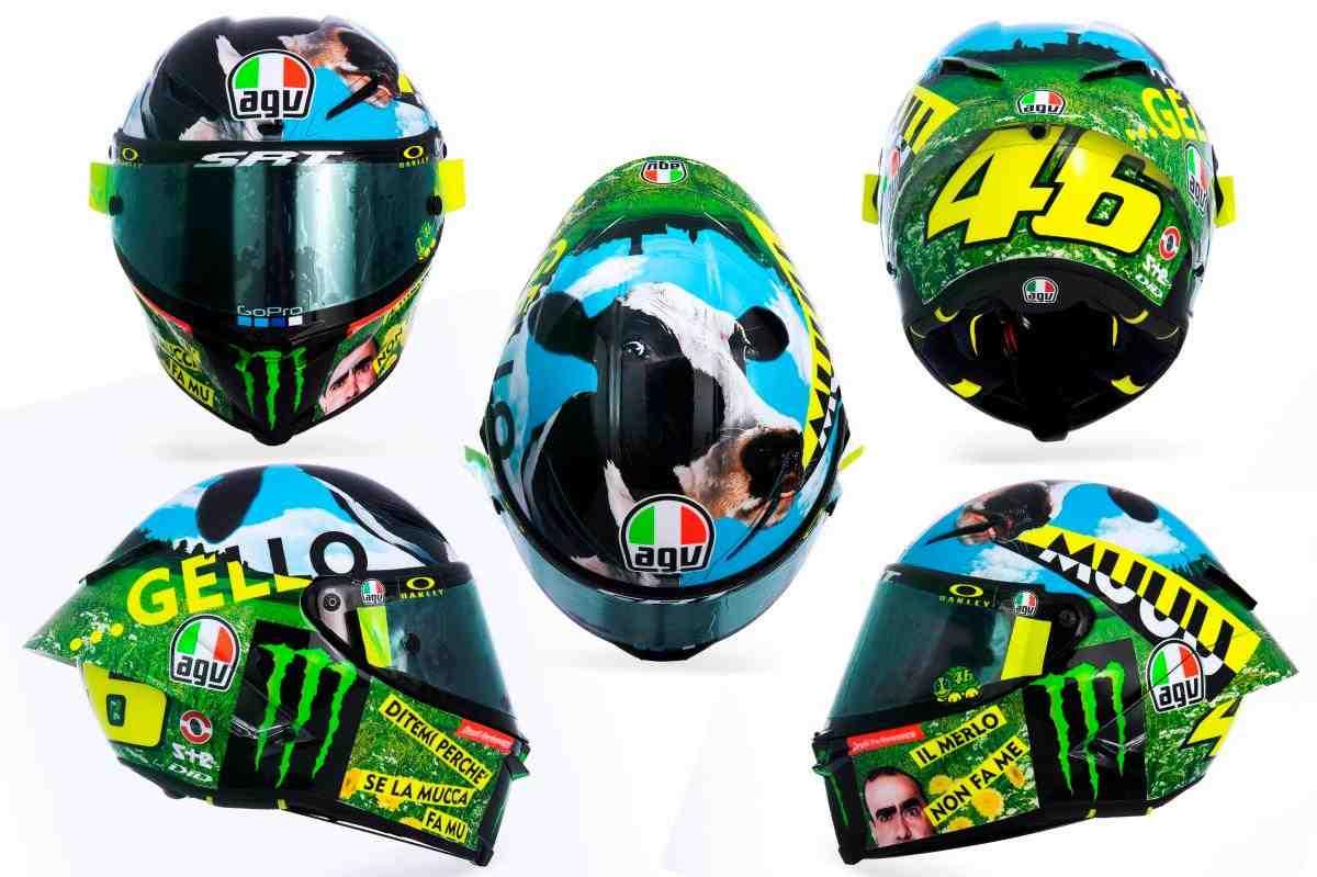 MotoGP: Валентино Росси и Священная Корова Му-у-у-джелло - фото и история нового шлема ItalianGP
