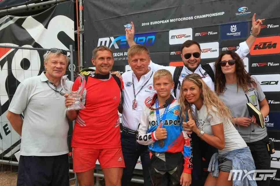 Мотокросс: видео заездов чемпионата Европы EMX65 - бронза у россиянина Семена Рыбакова!