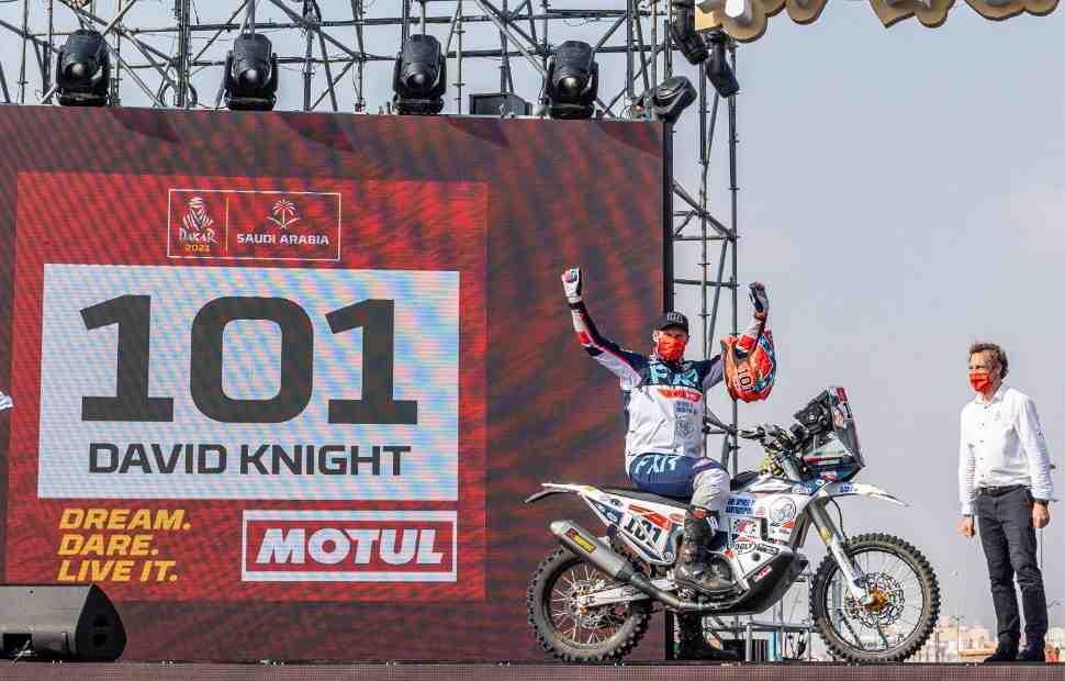 Пятикратный чемпион мира по эндуро Девид Найт дебютировал на ралли-марафоне Дакар 2021