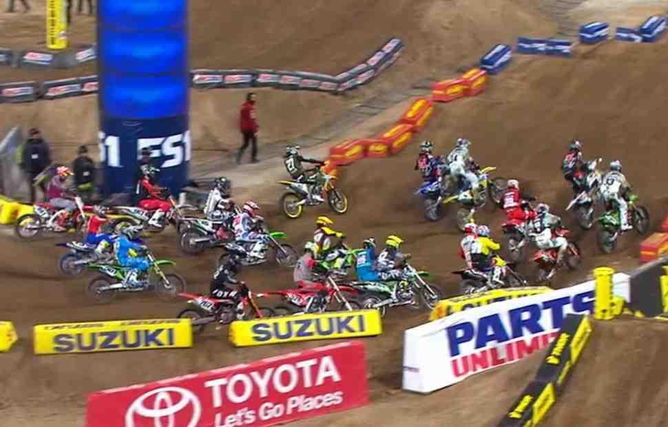 AMA Supercross: Видео - финальная гонка 450SX в Сан-Диего