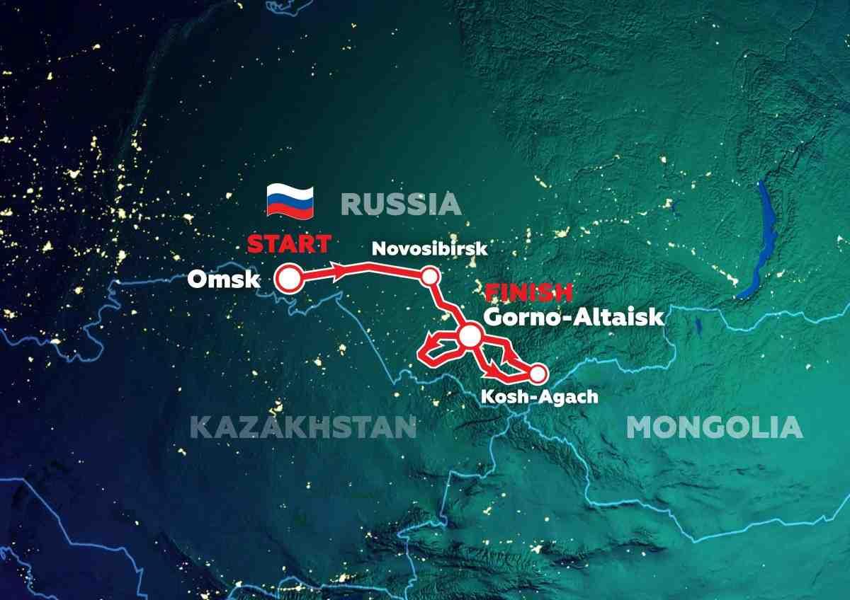 Международное ралли «Шёлковый путь» стартовало в Омске и тут же изменило маршрут: только Россия