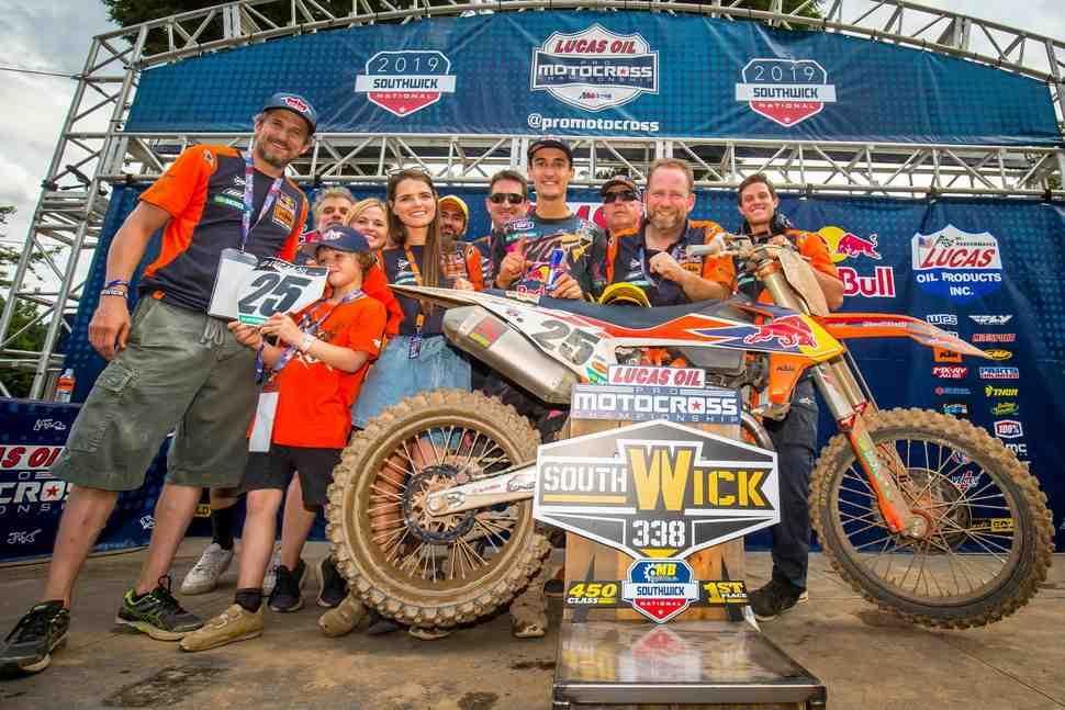 AMA Motocross: лучшие моменты 6-го этапа в  Southwick - видео