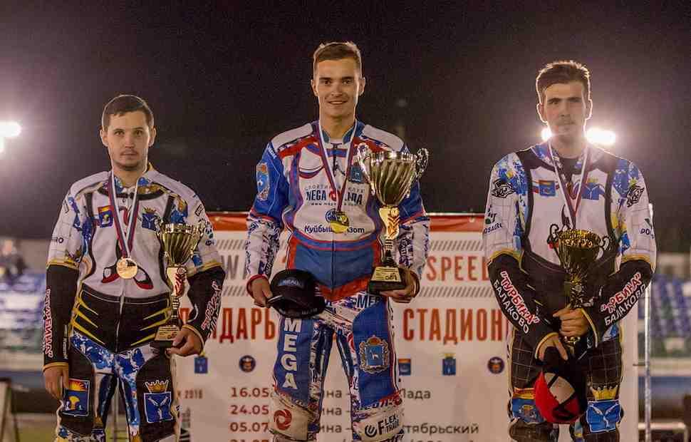 Андрей Кудряшов стал 3-кратным чемпионом России по спидвею на гаревой дорожке