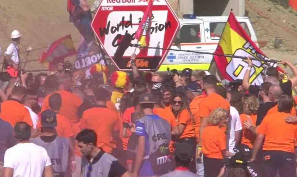 Мотокросс MX2: Лоуренс упустил победу - 1-й заезд Гран-При Италии 2018