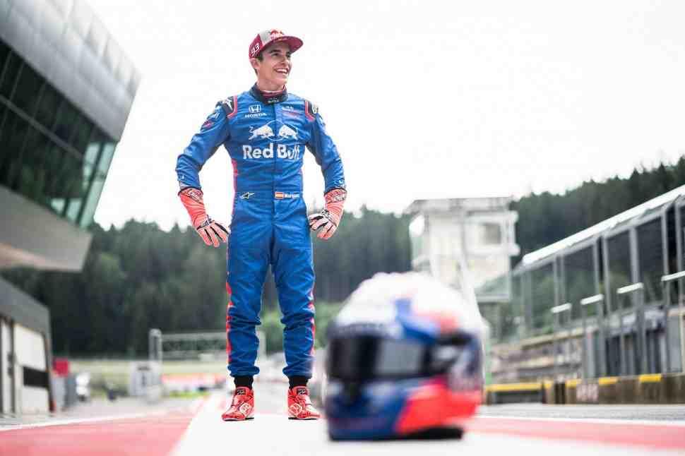 Маркес и Педроса прибыли на тесты Формулы-1 в Red Bull Ring