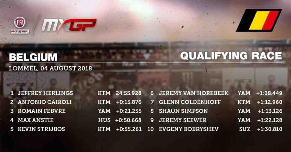 Мотокросс: Херлингс выиграл квалификацию Гран-При Бельгии. Результаты.