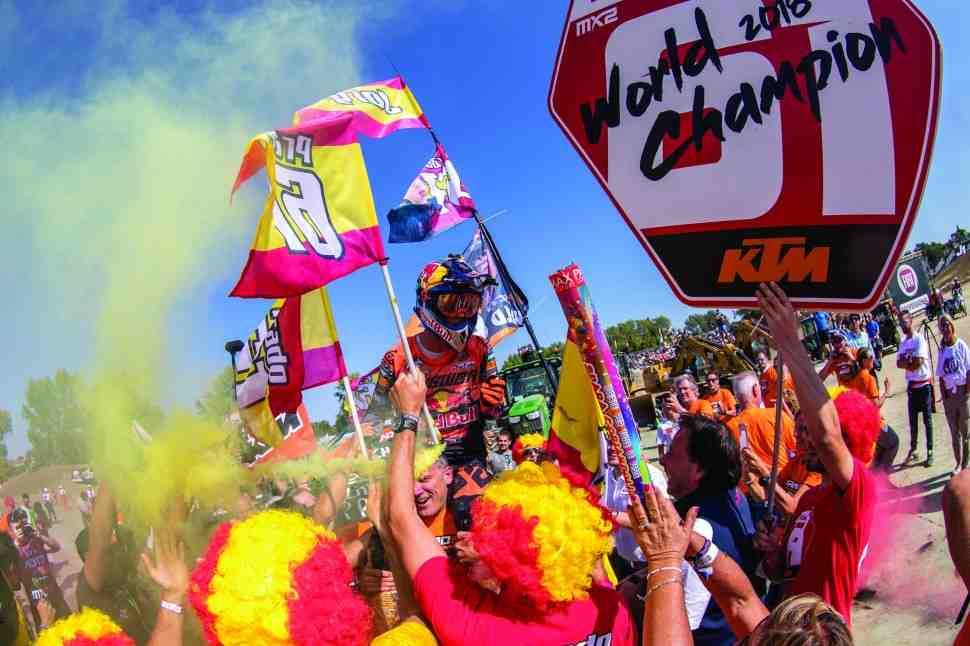 Мотокросс MX2: день взятия титула - минута с Хорхе Прадо и KTM (видео)