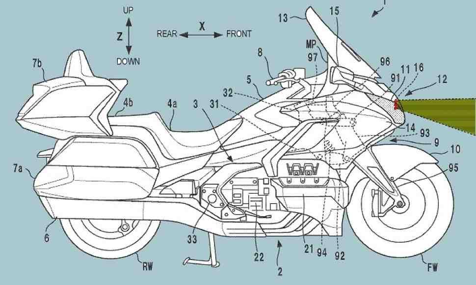 Honda Gold Wing получит адаптивный круиз-контроль и контроль слепых зон