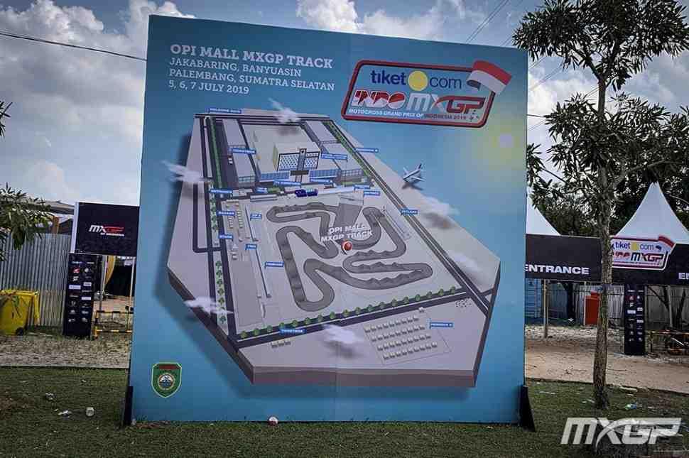 Мотокросс: круг по трассе MXGPIndonesia  - видео