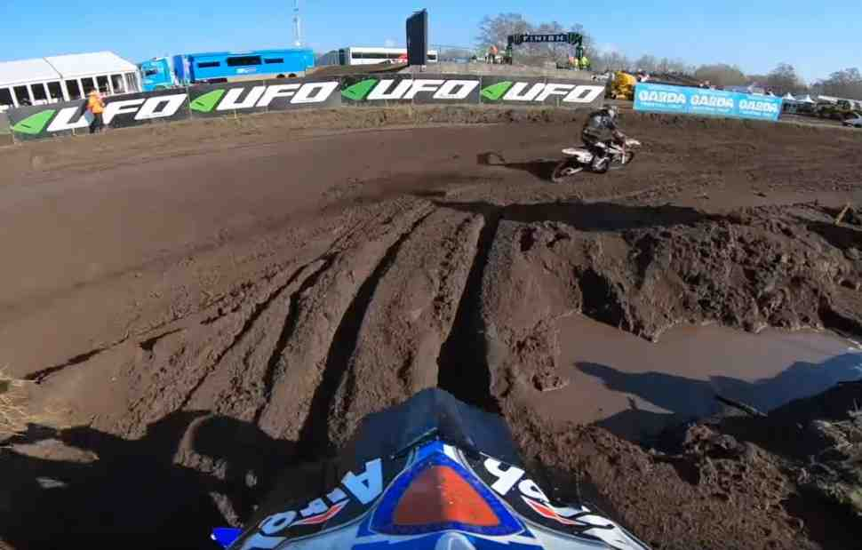 Мотокросс: круг по трассе Гран-При Нидерландов MXGP - видео