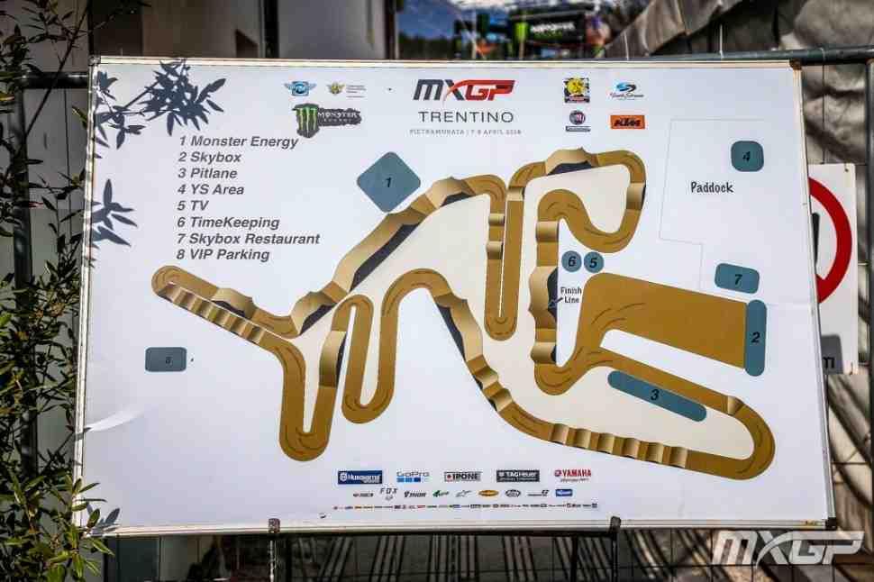 Мотокросс: круг по трассе Гран-При Трентино MXGP - видео