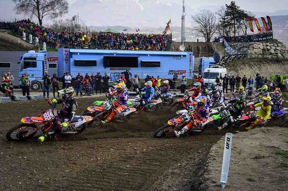 Мотокросс: квалификация Гран-При Трентино MXGP/MX2 - результаты