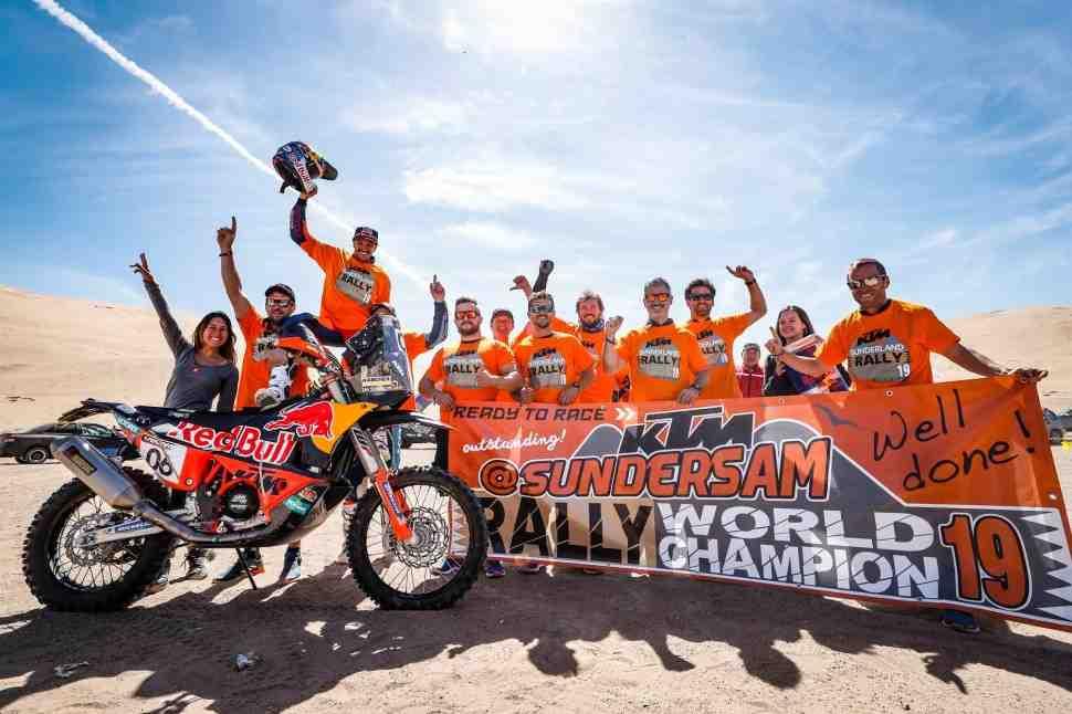 KTM празднует двойную победу на AtacamaRally:  Сандерленд - досрочно чемпион мира по ралли
