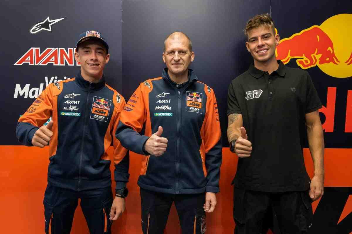 Педро Акоста и Августо Фернандес - новый состав Red Bull KTM Ajo Moto2