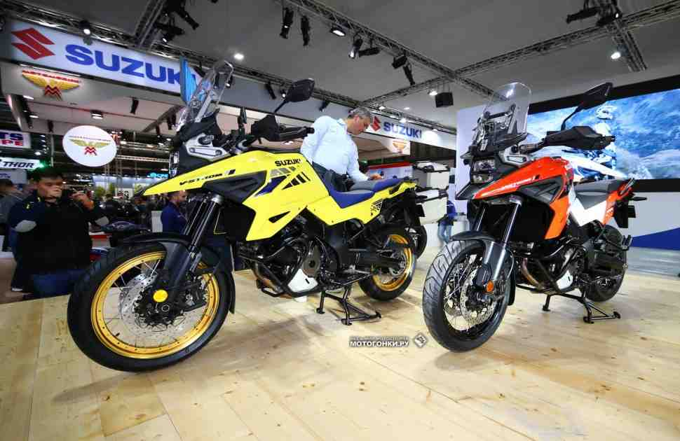 EICMA-2019: Suzuki V-Strom 1050 (2020) - Космолет для олдфагов