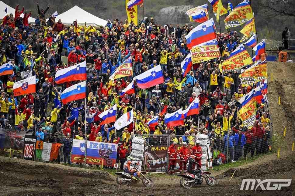 Мотокросс MXGP: борьба Гайзера и Кайроли в Гран-При Трентино - видео