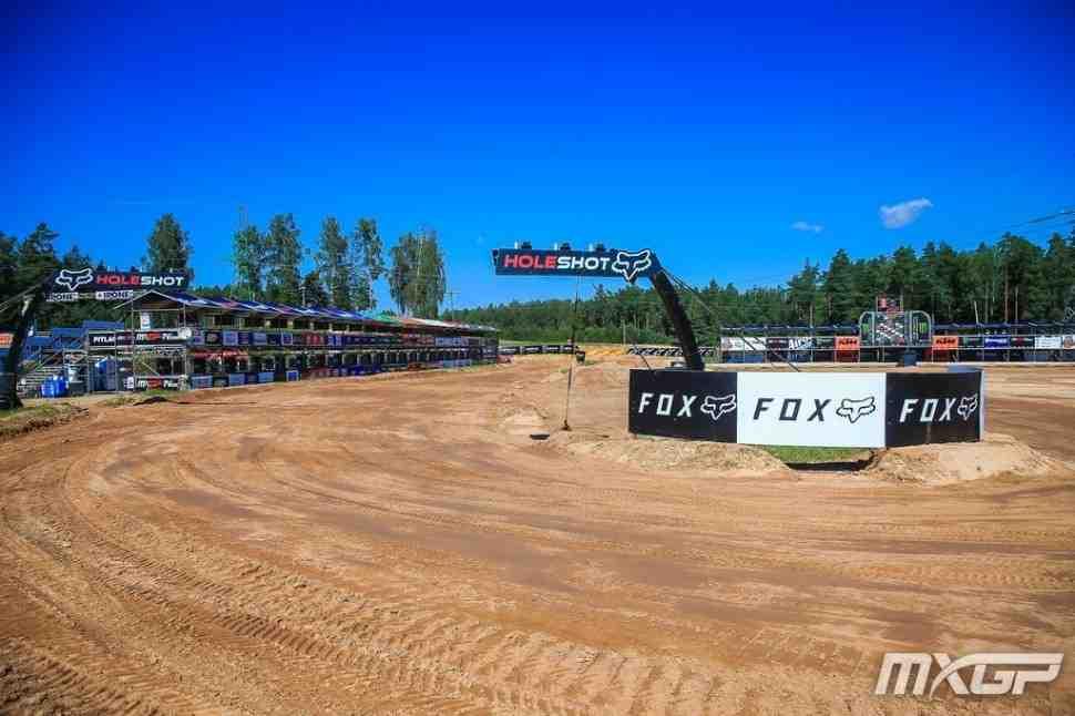 Мотокросс: трасса Гран-При Латвии MXGP - видео