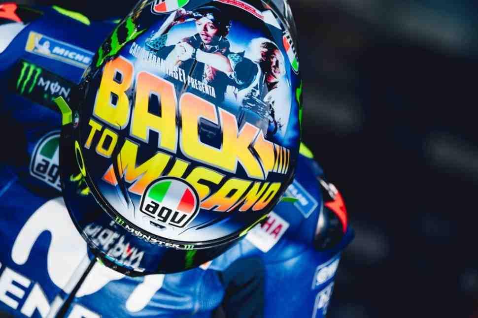 Новый мотив: домашний шлем Валентино Росси в стиле «Назад в будущее»