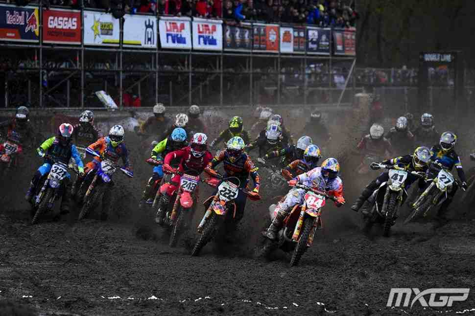 Мотокросс: Гран-При Нидерландов - видео заездов MXGP/MX2