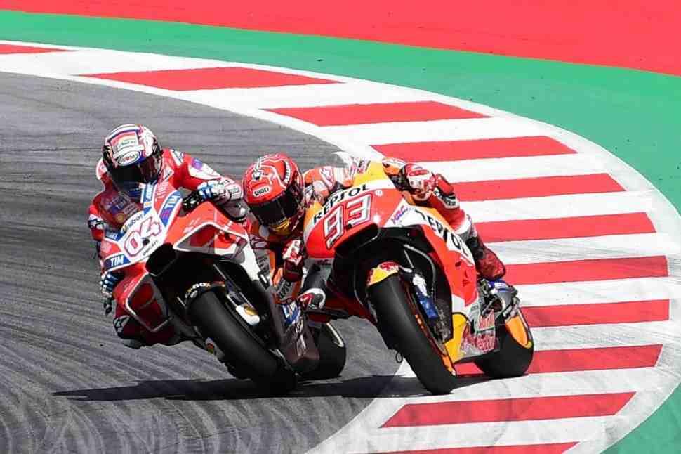 MotoGP: Довициозо против Маркеса - Будет ли повтор лучшей гонки сезона в Red Bull Ring?