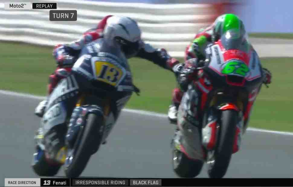 Moto2: Черное пятно на триколоре - Романо Фенати забанили после беспредела в Мизано