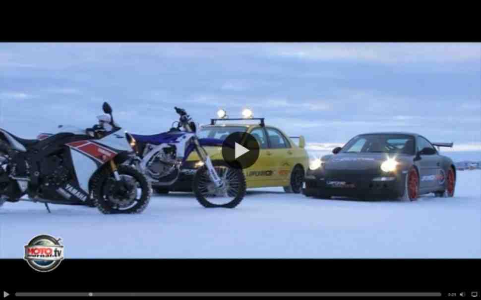 Быстрее, чем Porsche: 258 км/ч по льду на Yamaha R1