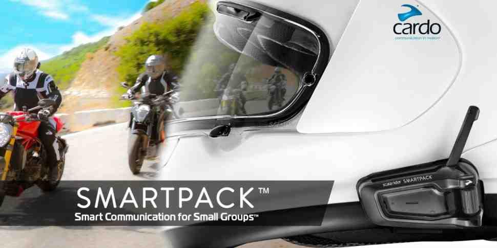 Cardo scala rider SMARTPACK: беспроводная связь для небольших групп мотоциклистов