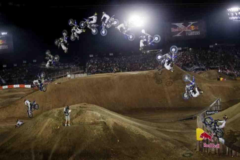 FMX: Двойной бэкфлип на Red Bull X-Fighters в Техасе!