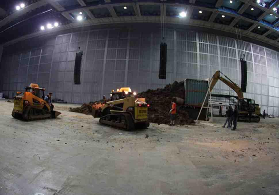 "FMX Masters: В ""Олимпийском"" началось строительство фристайл-парка"
