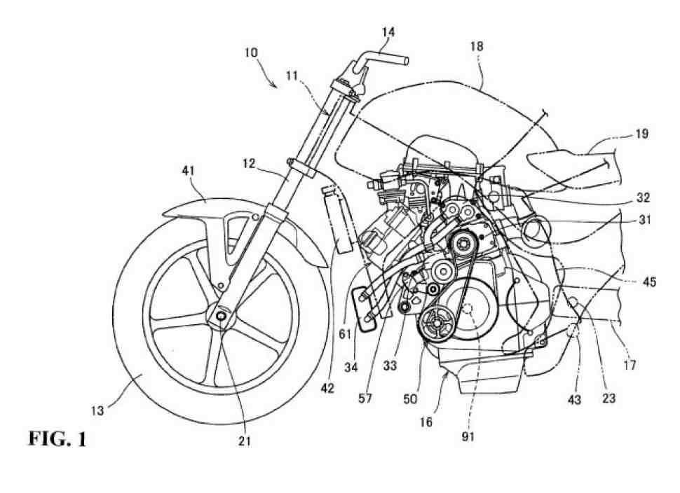 Honda готовится выпустить в свет турбированный мотоцикл