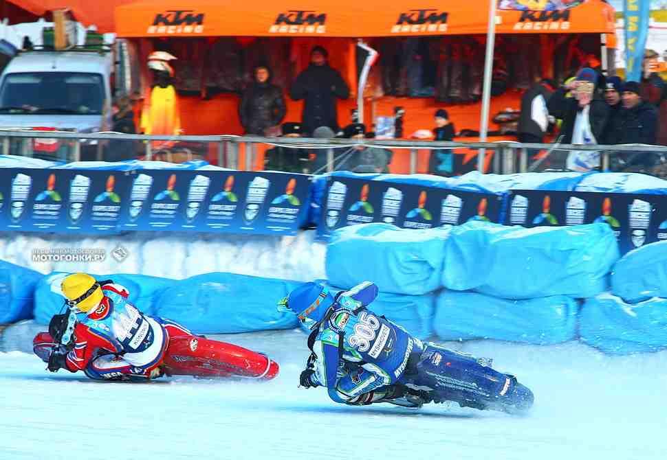 Ice Speedway Gladiators, Финал 1: Мышковец, Колтаков и Красников на подиуме с равным счетом