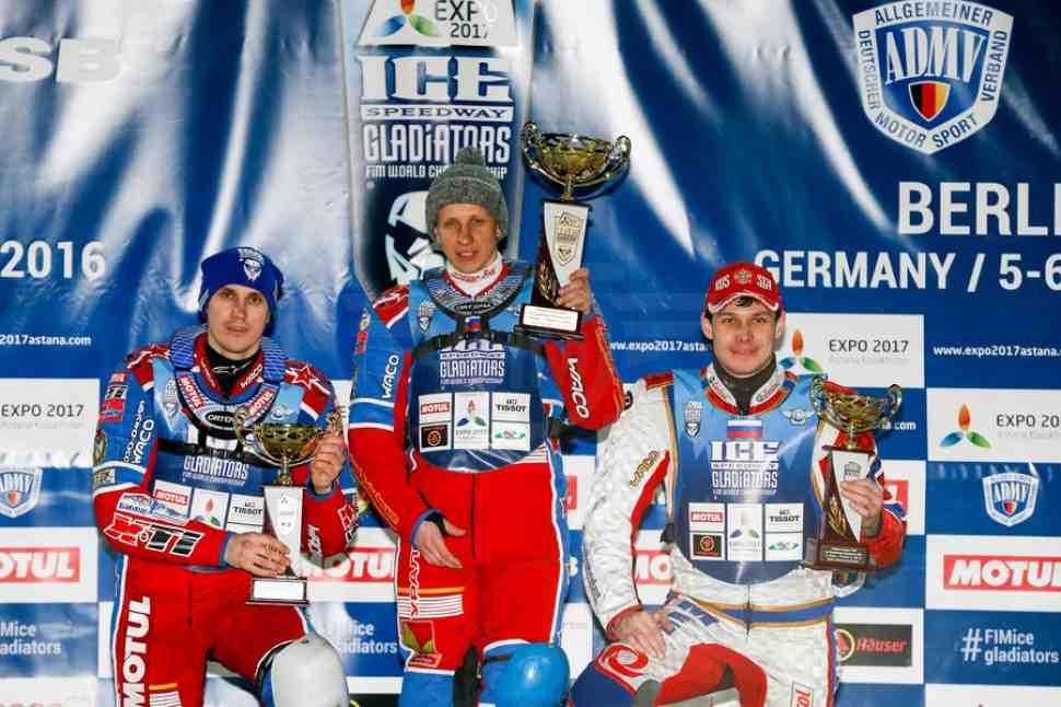 Ice Speedway Gladiators: Хомицевич выигрывает первый день в Берлине