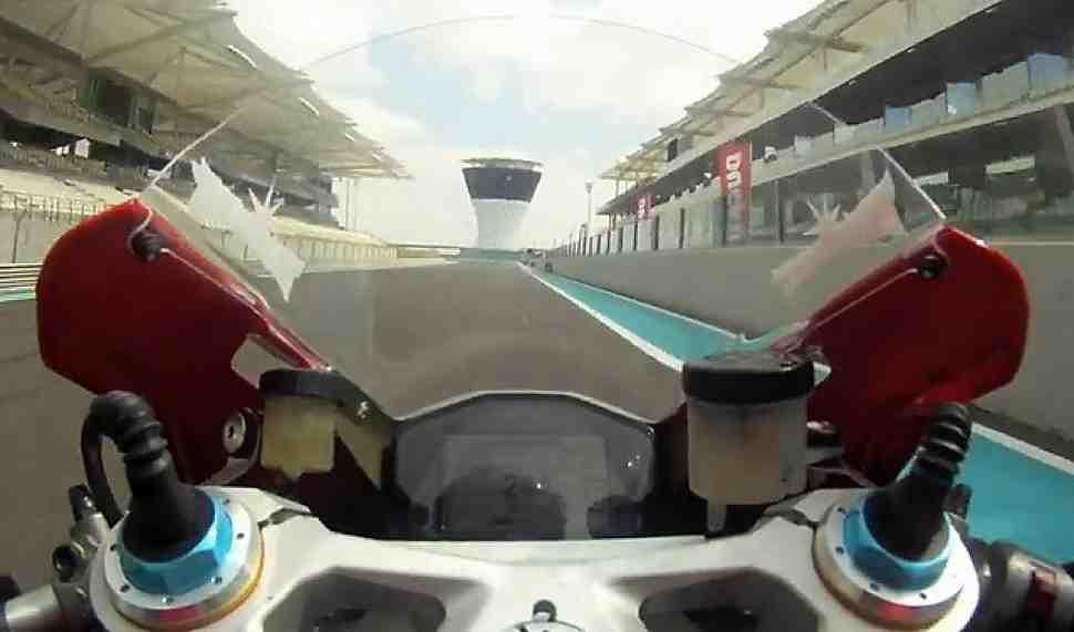 Круг по Yas Marina с Бейлиссом и Ducati Panigale 1199
