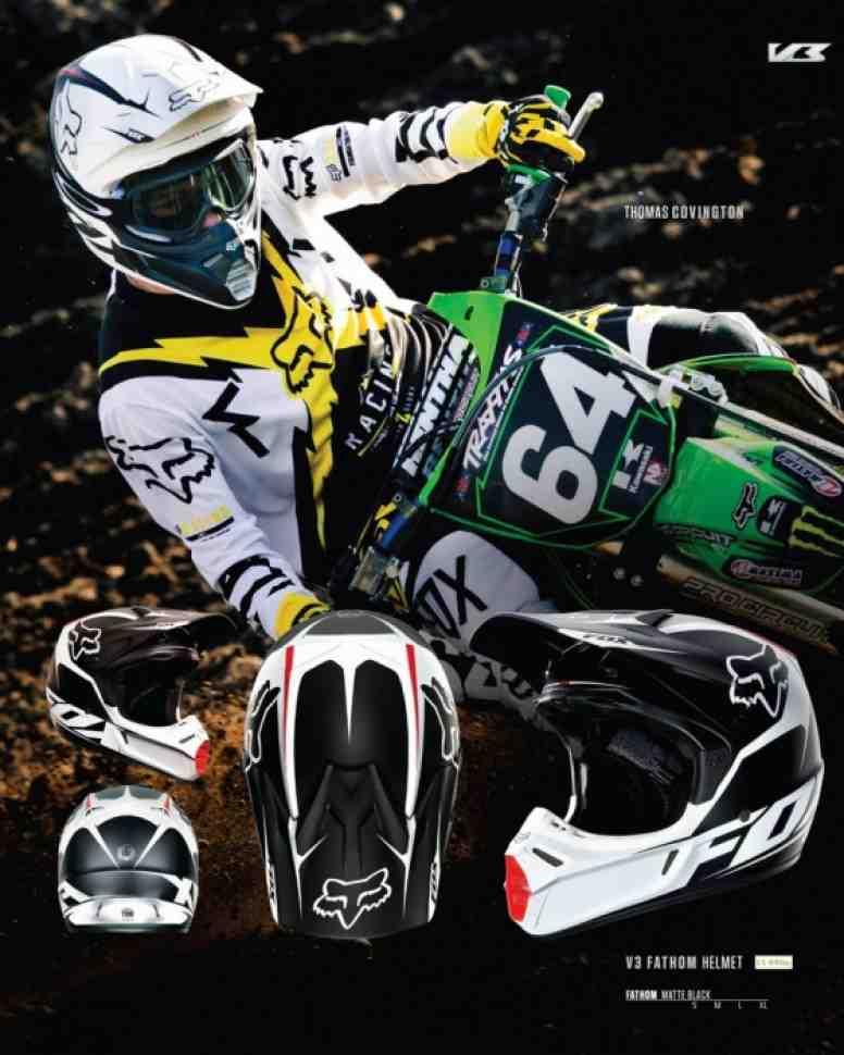 Мотокросс: шлемы FOX V3 и V2 - бестселлеры сезона
