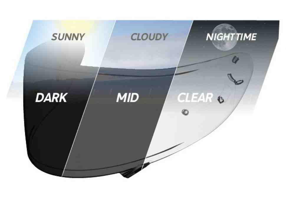 Обзор фотохроматических визоров для шлемов SHOEI NXR и X-Spirit III