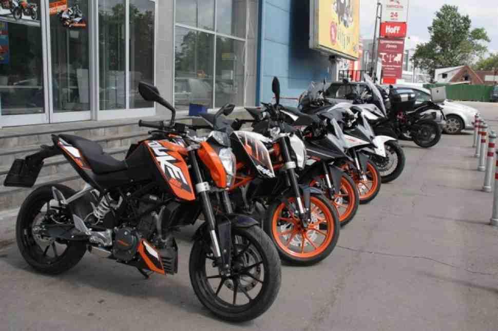 Снижены цены на индивидуальный тест-драйв мотоциклов КТМ